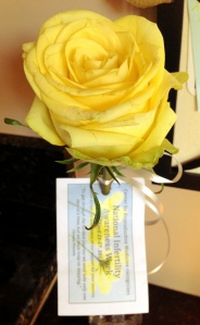 Our clinic handed out yellow roses for National Infertility Awareness Week ... a lovely gesture!