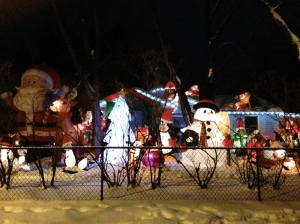 How's this for having the front yard decorated?