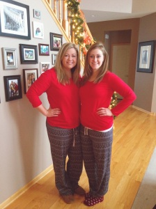 Matching pajamas ... check!