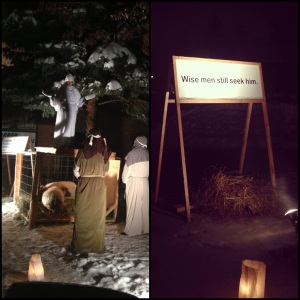 The live nativity ... and left with a powerful message on the last sign!