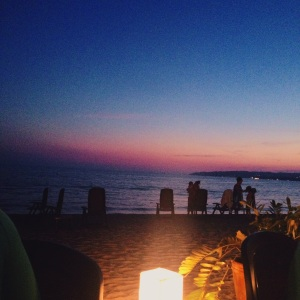 We had an amazing dinner on the beach one night - what a view!