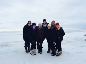 Looks like we are in the tundra right? Nope, that's just standing out on the lake up north. Gorgeous though right!?