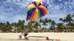 A fun adventure parasailing.